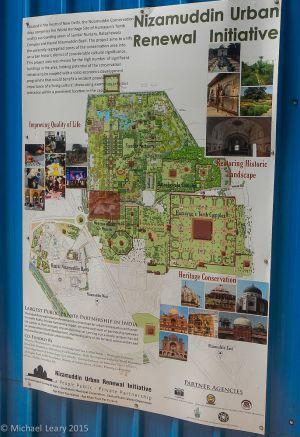 Delhi Humayun tomb complex map