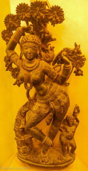 Mohini figure (female version of Vishnu) in stone; Western Chalukya, 12th century; Gadag Karnataka