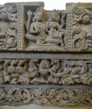 Stone lintel showing Shiva and Parvati (or Gauri); Pratihara 8th century CE; Abaneri, Rajasthan