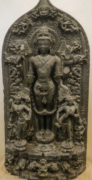 Vishnu in Stone; Pala 11th century CE; Bengal
