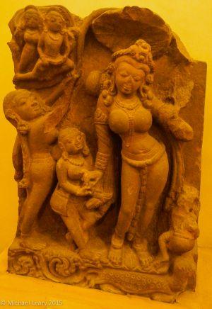 Yamuna in stone; 8th century CE; Madhya Pradesh;