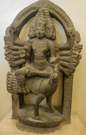 Karttikeya (God of war; Son of Shiva) in stone; Late Chola 12th century CE; South India
