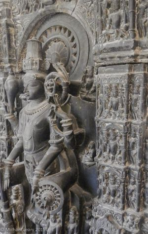 Vishnu and manifestations in stone; 1147 CE; Gahadaval; Mehrauli, Delhi;