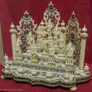 Ten Vishnu incarnations in ivory;