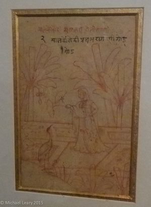 Miniature painting begun by rough drawing in red ochre or black; Paper; Kangra Pahari; 1780-90 CE
