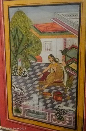 Miniature finished by using colors as indicated by master artist; Kotah, Rajasthan; 1750-60 CE
