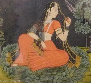 Nayika; Garhwal Pahari; 1800 CE on paper;