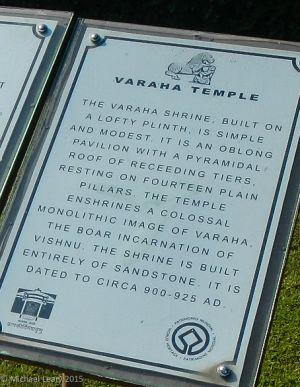 Varaha Temple notice