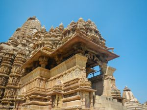 SE view Kandariya of Ardha mandapa