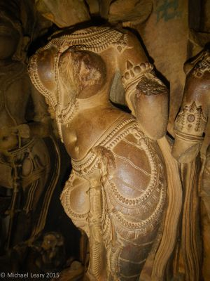 Kandariya inner sanctum female attendant figure