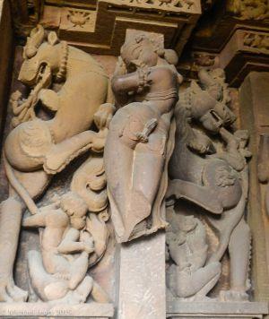 Vishvaneth temple figure in inner sanctum