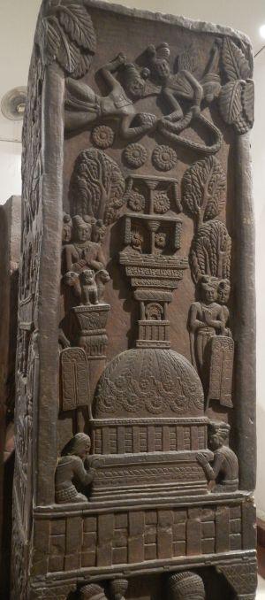 Post panel (Indian museum Kolkata)