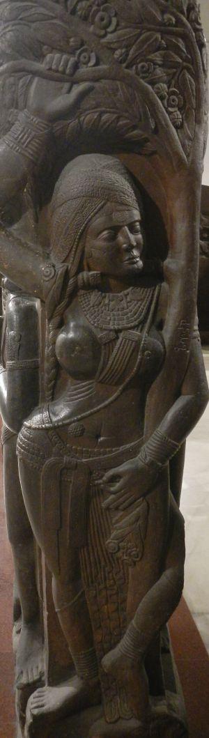 Figure on post (Indian museum Kolkata)