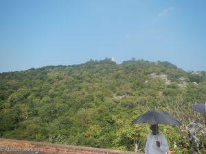 View toward Shanti Peace Pagoda