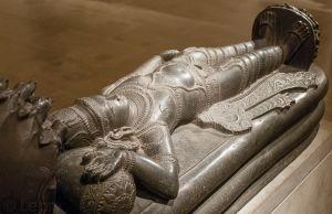 Visnu Narayana reposant sur le serpent de l'Éternité, Ananta