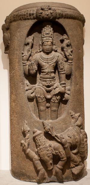 Siva Lingodbhavamurti, Siva apparaissant dans le linga de feu